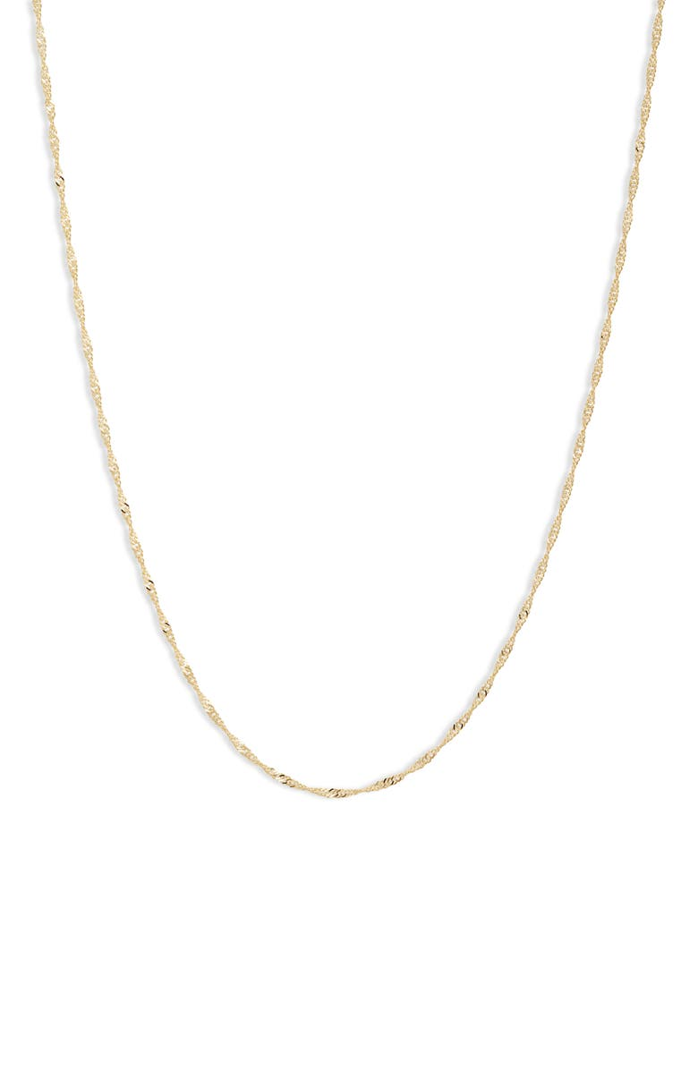 POPPY FINCH 14K Gold Shimmer Chain Necklace, Main, color, YELLOW GOLD