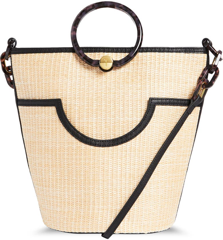TED BAKER LONDON Amayi Woven Tote Bag, Main, color, BLACK