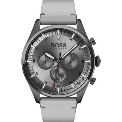 Boss Pioneer Chronograph Leather Strap Watch, 4m