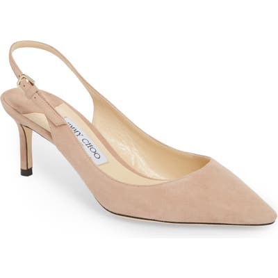 Jimmy Choo Erin Pointy Toe Slingback Pump, Pink