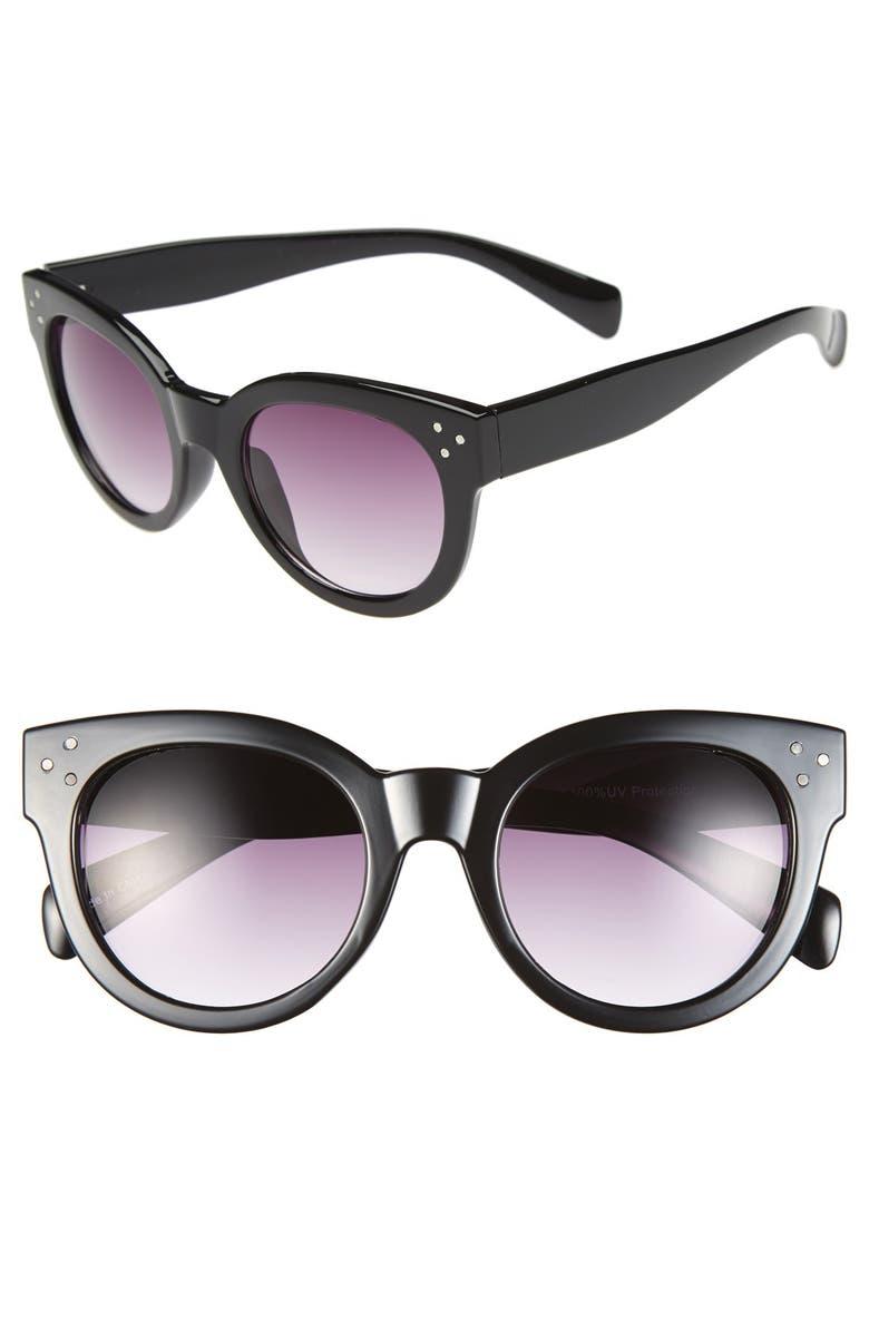 BP. 'Langham' 49mm Sunglasses, Main, color, 001