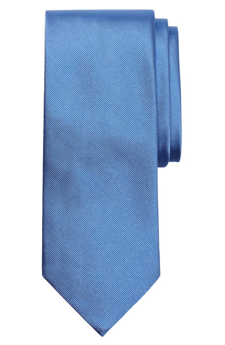 BROOKS BROTHERS Solid Silk Tie, Main, color, BLUE