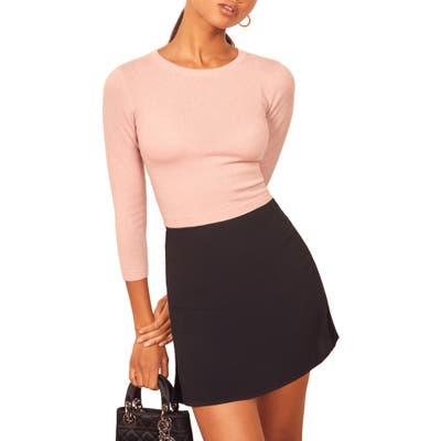 Reformation Jane Cashmere & Wool Sweater, Pink