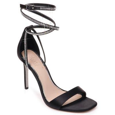 Jewel Badgley Mischka Shaylee Crystal Embellished Sandal- Black