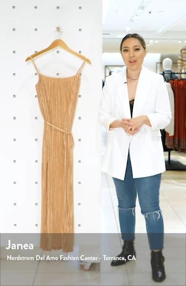 Metallic Plissé Dress, sales video thumbnail