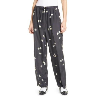 The Marc Jacobs The Pajama Daisy Print Silk Pants, Black