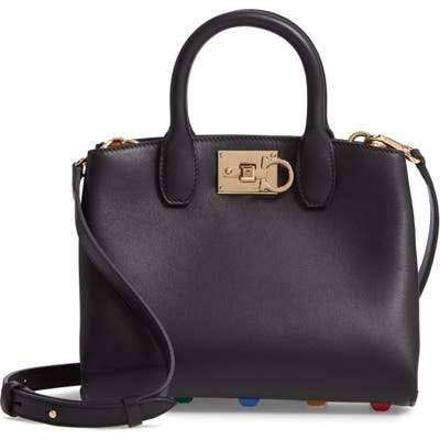 Salvatore Ferragamo The Mini Studio Leather Tote - Black