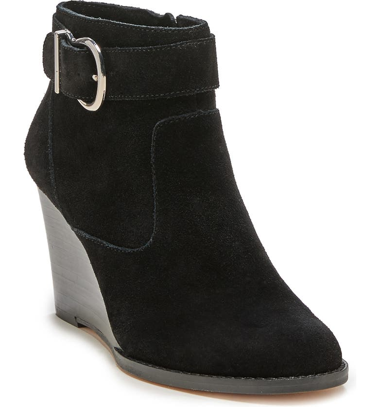 SOLE SOCIETY Peytal Wedge Bootie, Main, color, BLACK SUEDE
