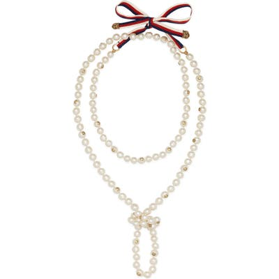 Gucci Long Imitation Pearl Necklace