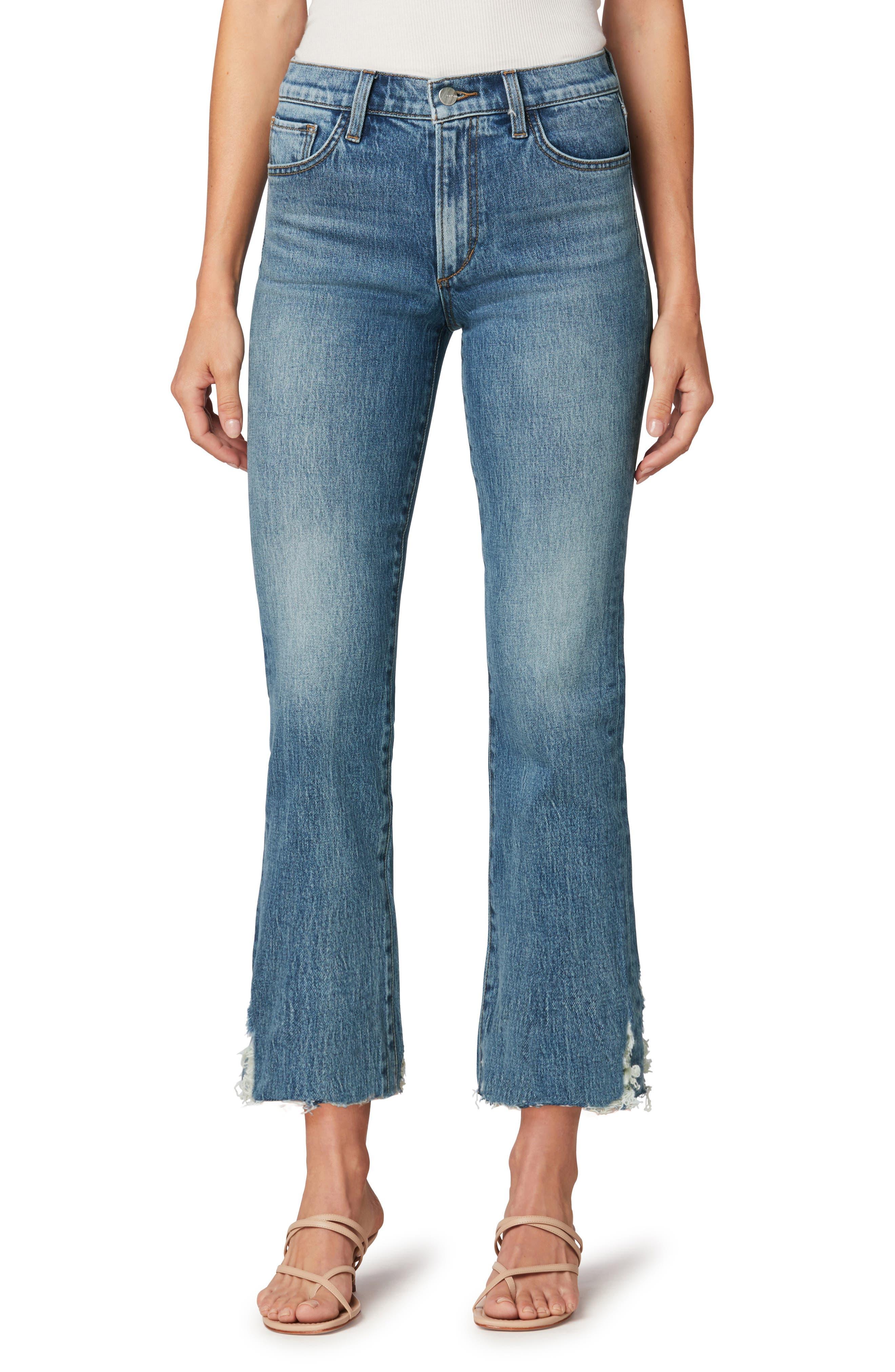 The Callie High Waist Cutoff Crop Bootcut Jeans