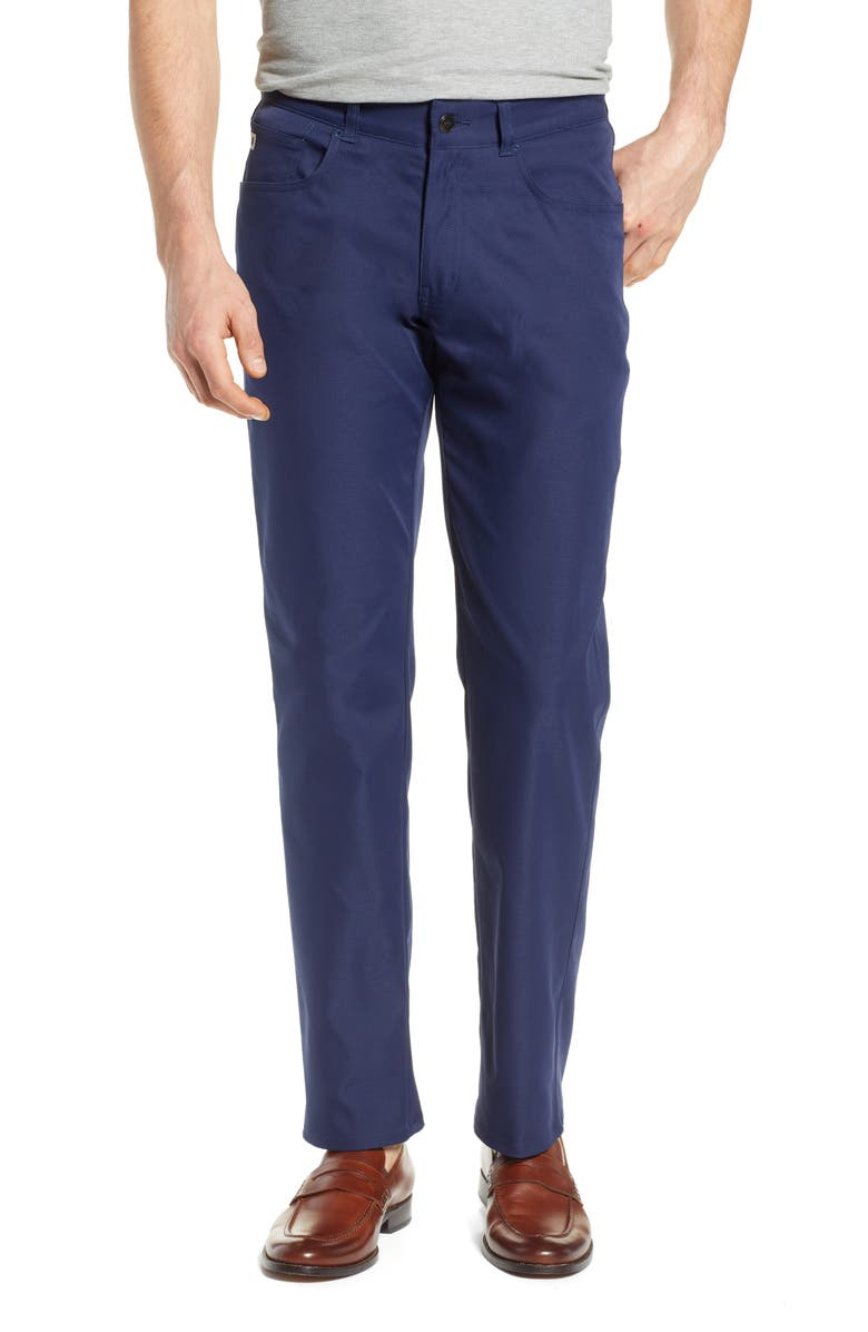 PETER MILLAR Five-Pocket Performance Pants, Main, color, NAVY