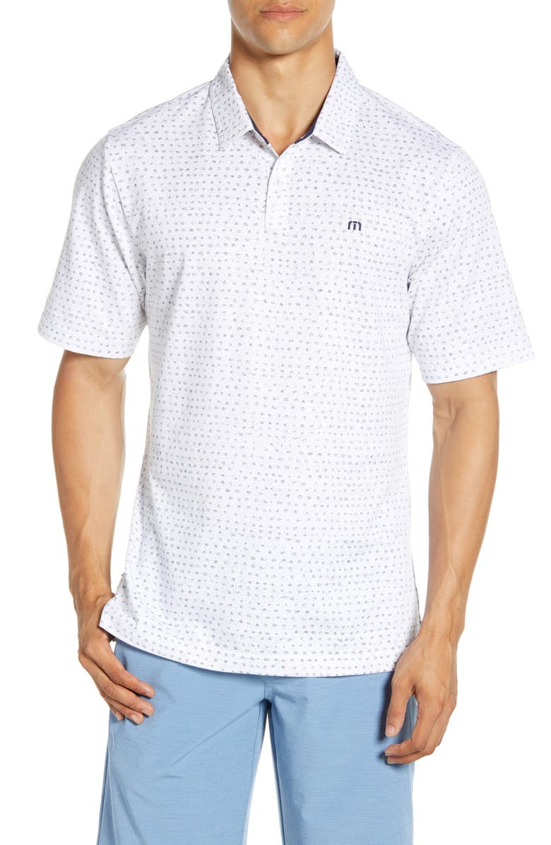 TRAVISMATHEW Right Now Right Now Regular Fit Short Sleeve Polo, Main, color, 100