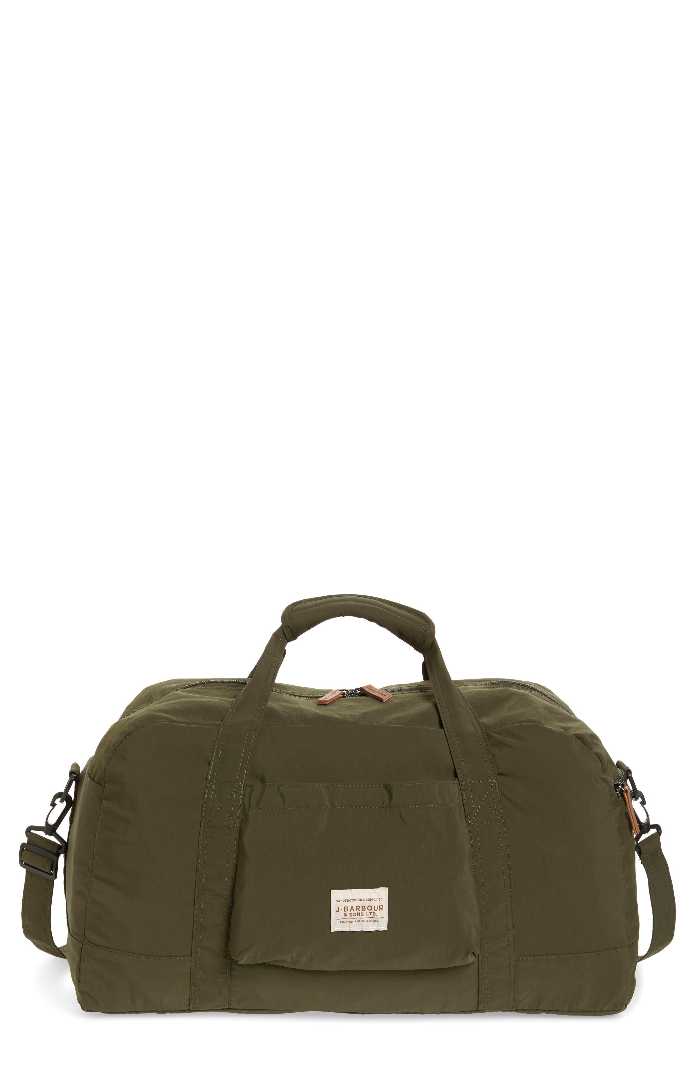 Banchory Packable Duffle Bag, Main, color, DARK GREEN