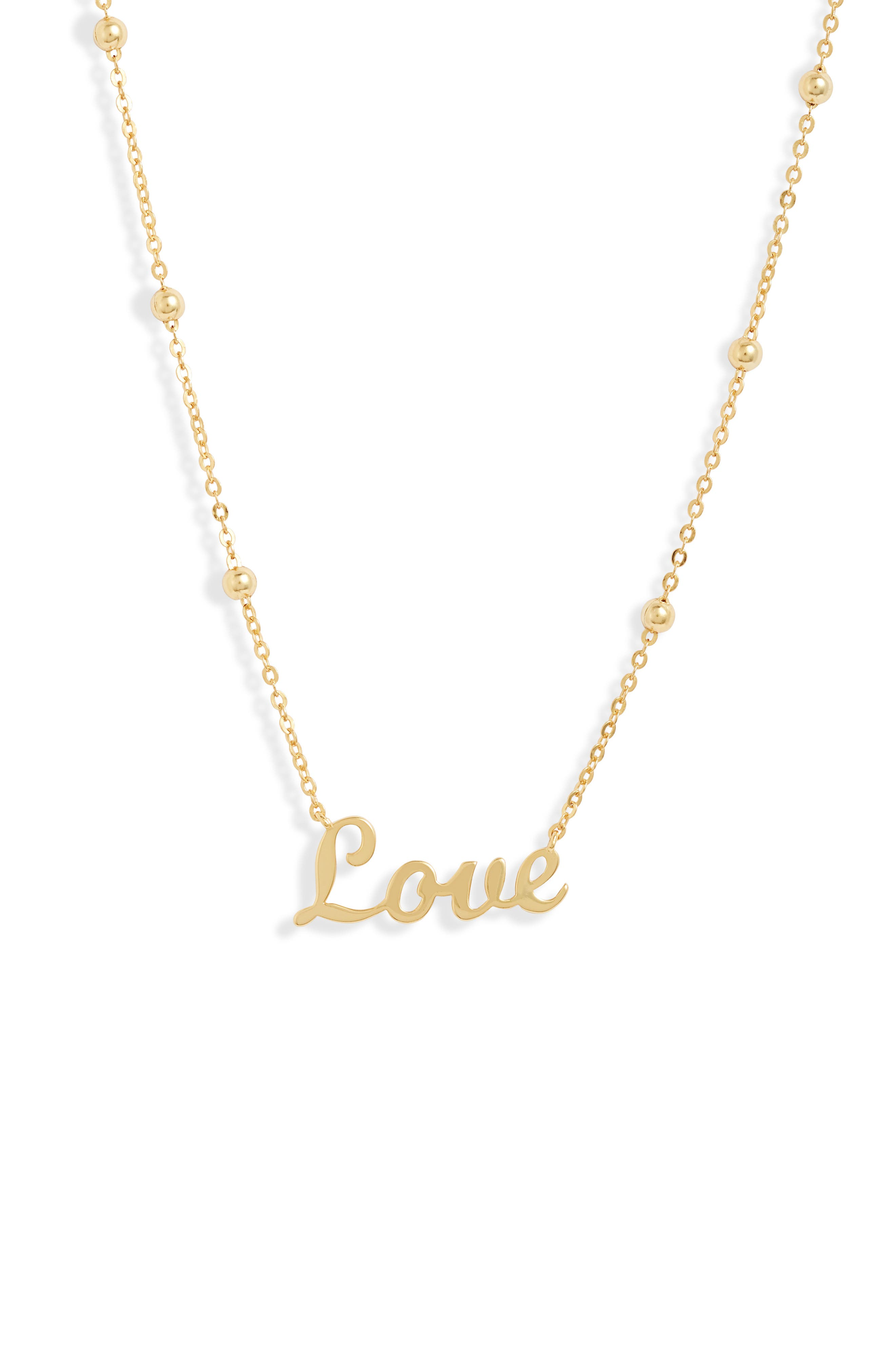 Image of Argento Vivo Love Pendant Necklace