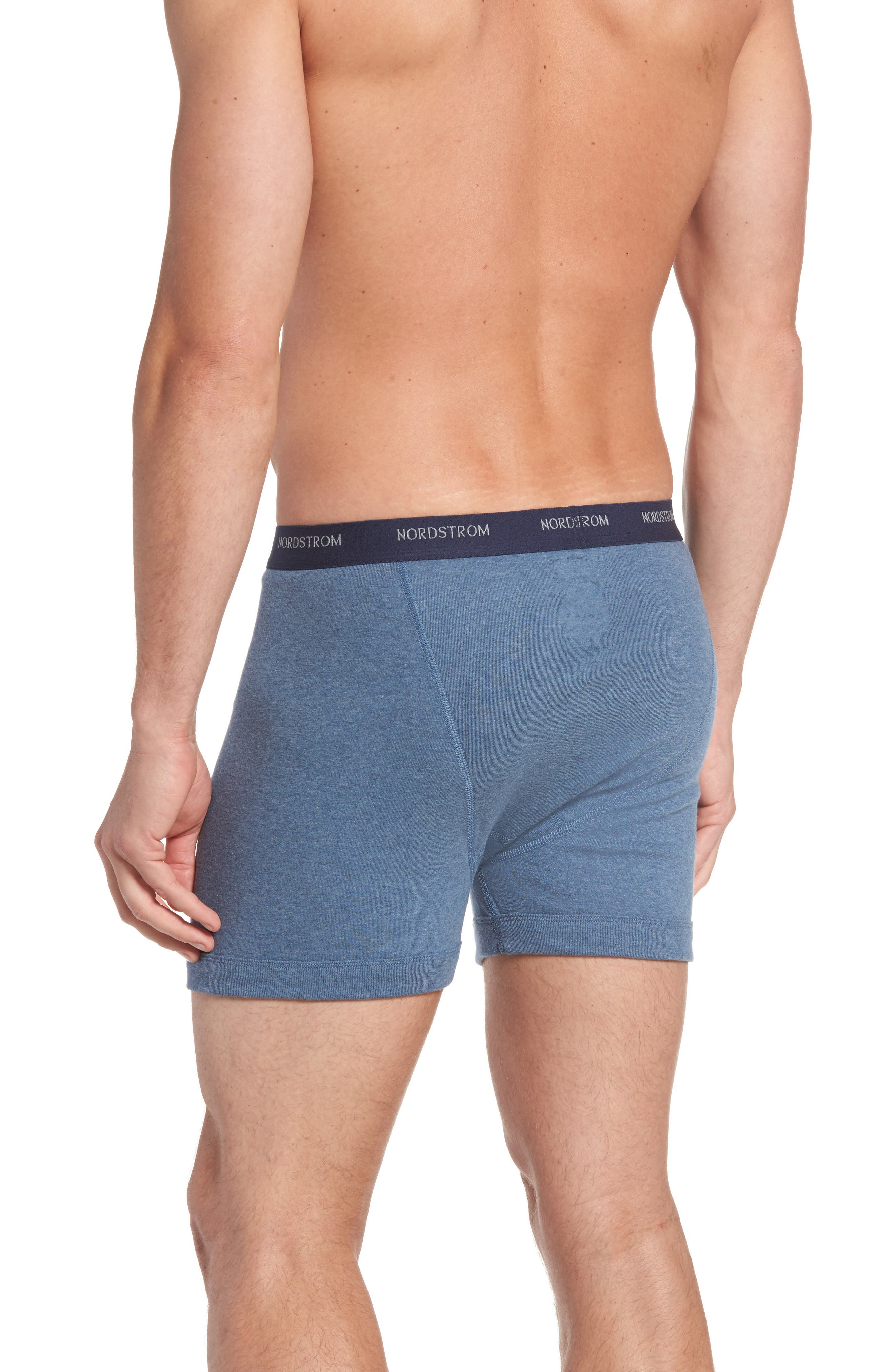 ,                             3-Pack Supima<sup>®</sup> Cotton Boxer Briefs,                             Alternate thumbnail 3, color,                             NAVY/ CHARCOAL/ BLUE