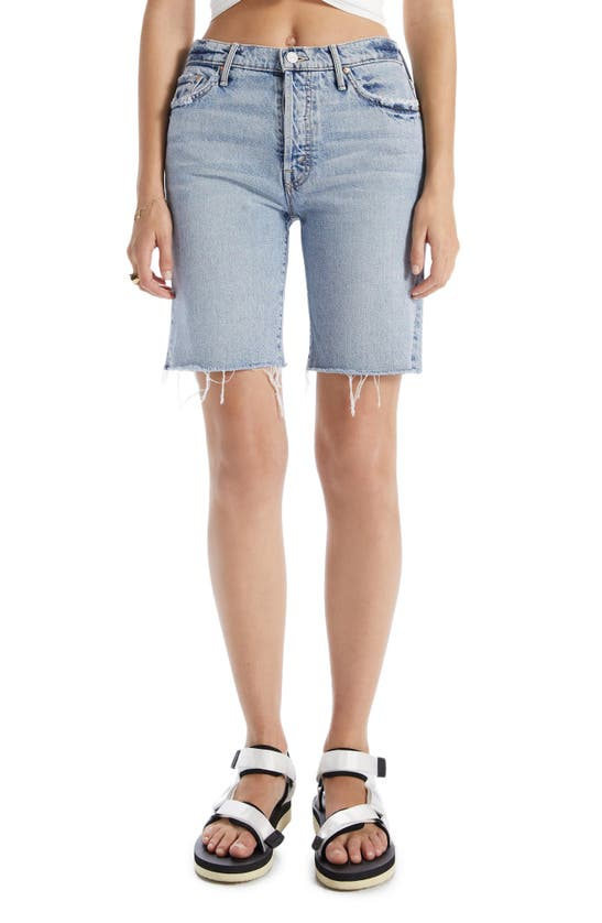 Mother Denims THE TRICKSTER SLOUCHY LONG SHORTS