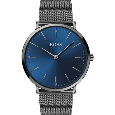 Boss Horizon Mesh Strap Watch, 40Mm