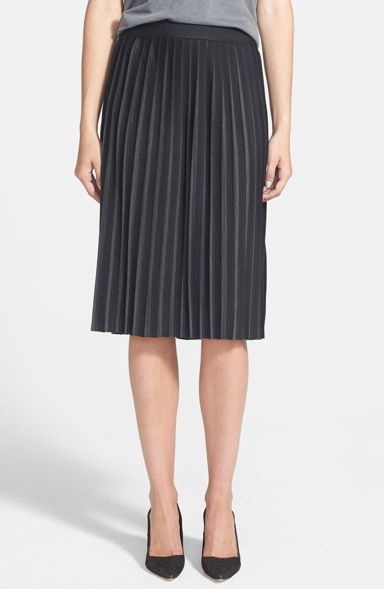 BAILEY 44 Pleat Midi Skirt, Main, color, 001
