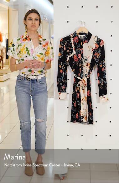 8a0a5b2ba58 maje Riller Two-Tone Floral Print Shirtdress