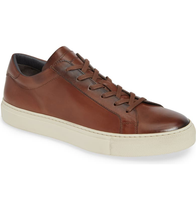 TO BOOT NEW YORK Knox Low Top Sneaker, Main, color, BROWN LEATHER