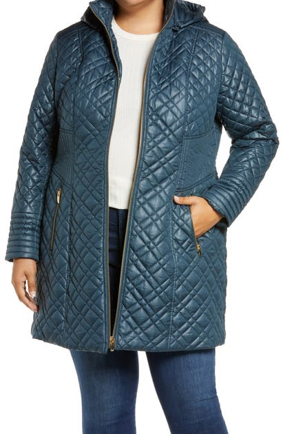 Via Spiga QUILTED COAT WITH REMOVABLE HOOD
