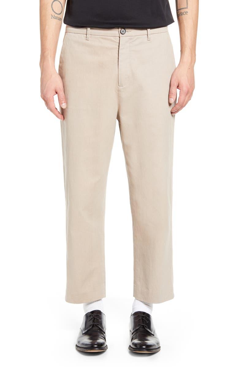 ALLSAINTS Muro Straight Leg Chino Pants, Main, color, SAND