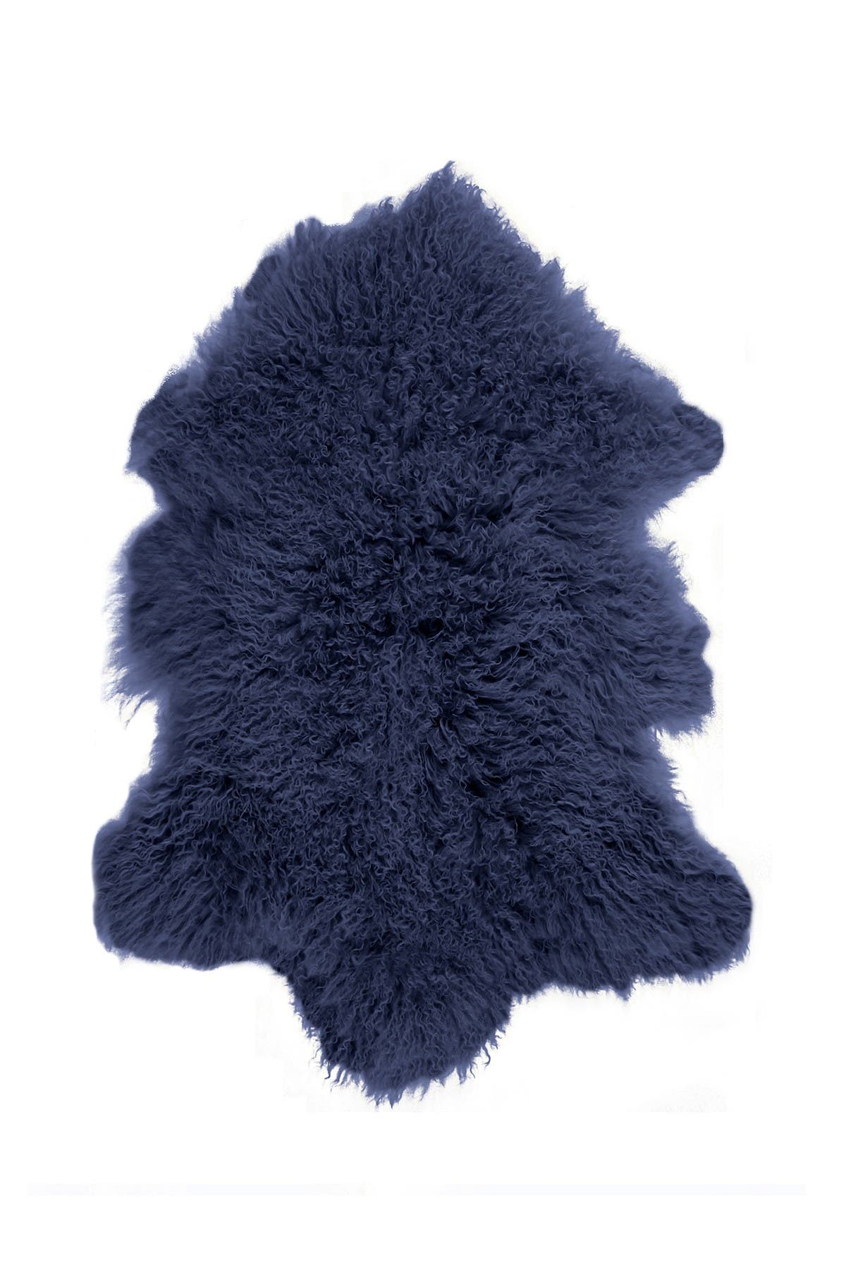 Image of Kinetic Luxe Faux Fur Faux Fur Single Rug - 2ft x 3ft - Ink