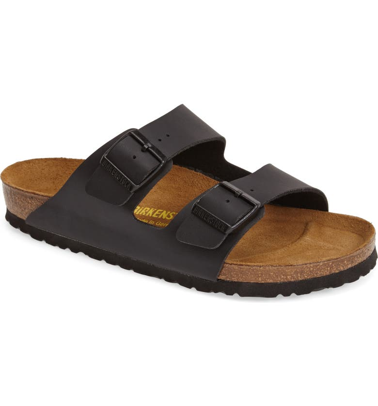 BIRKENSTOCK Arizona Slide Sandal, Main, color, BLACK