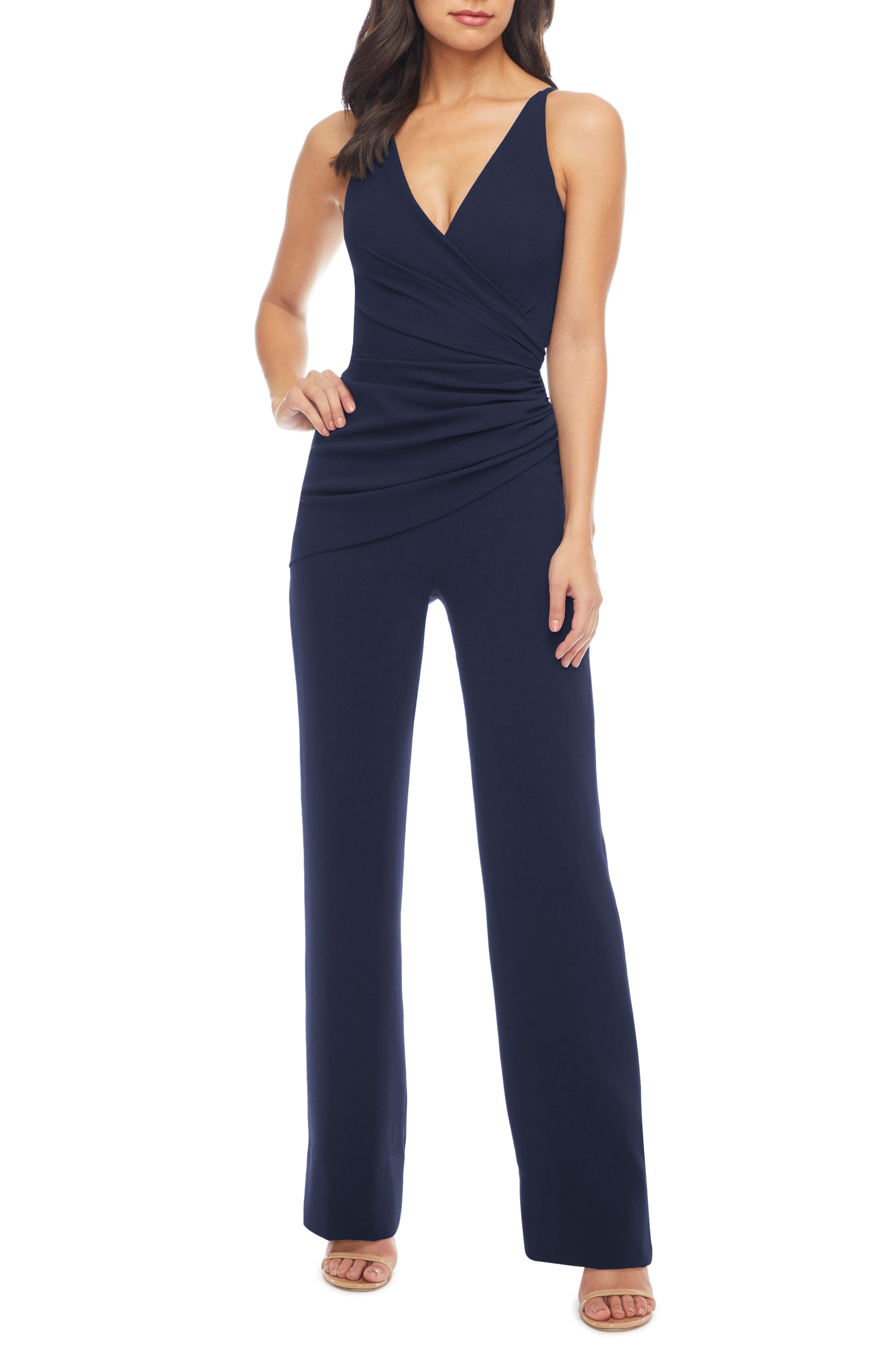 Dress the Population Sam Ruched Jumpsuit