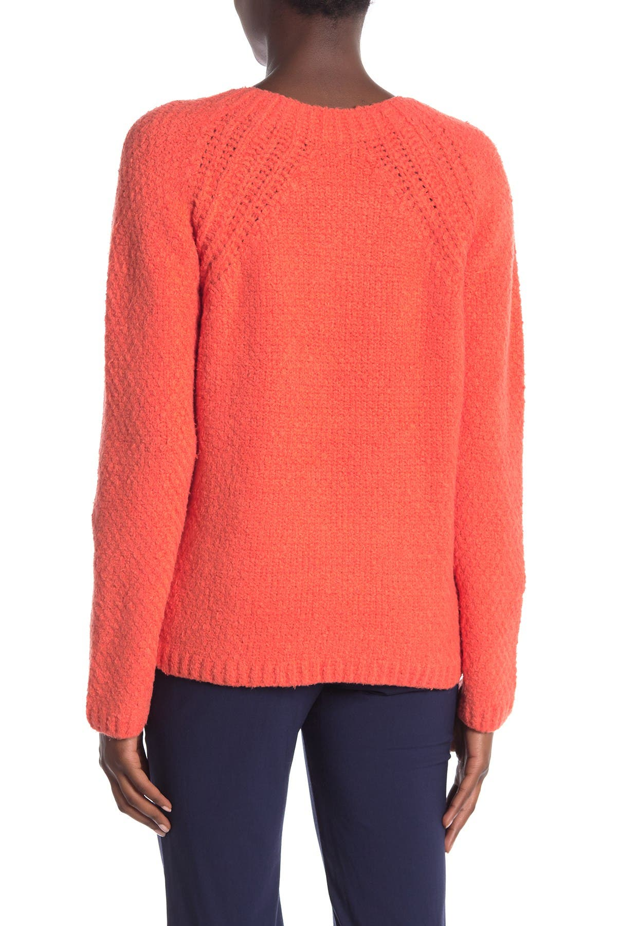 Image of Eileen Fisher Crew Neck Organic Cotton Blend Pullover