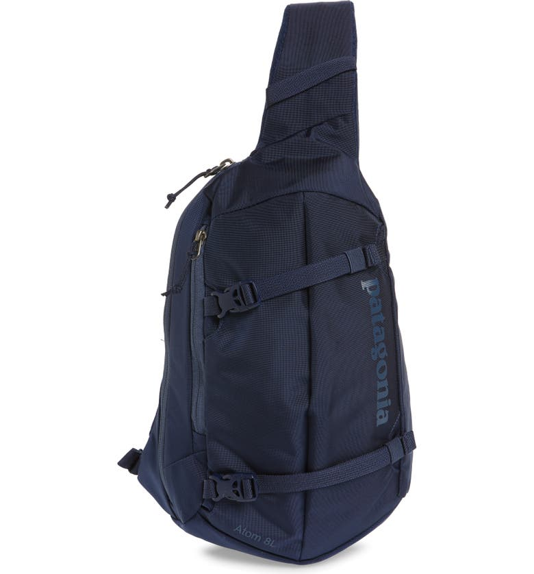 PATAGONIA Atom 8L Sling Backpack, Main, color, CLASSIC NAVY W/ NAVY