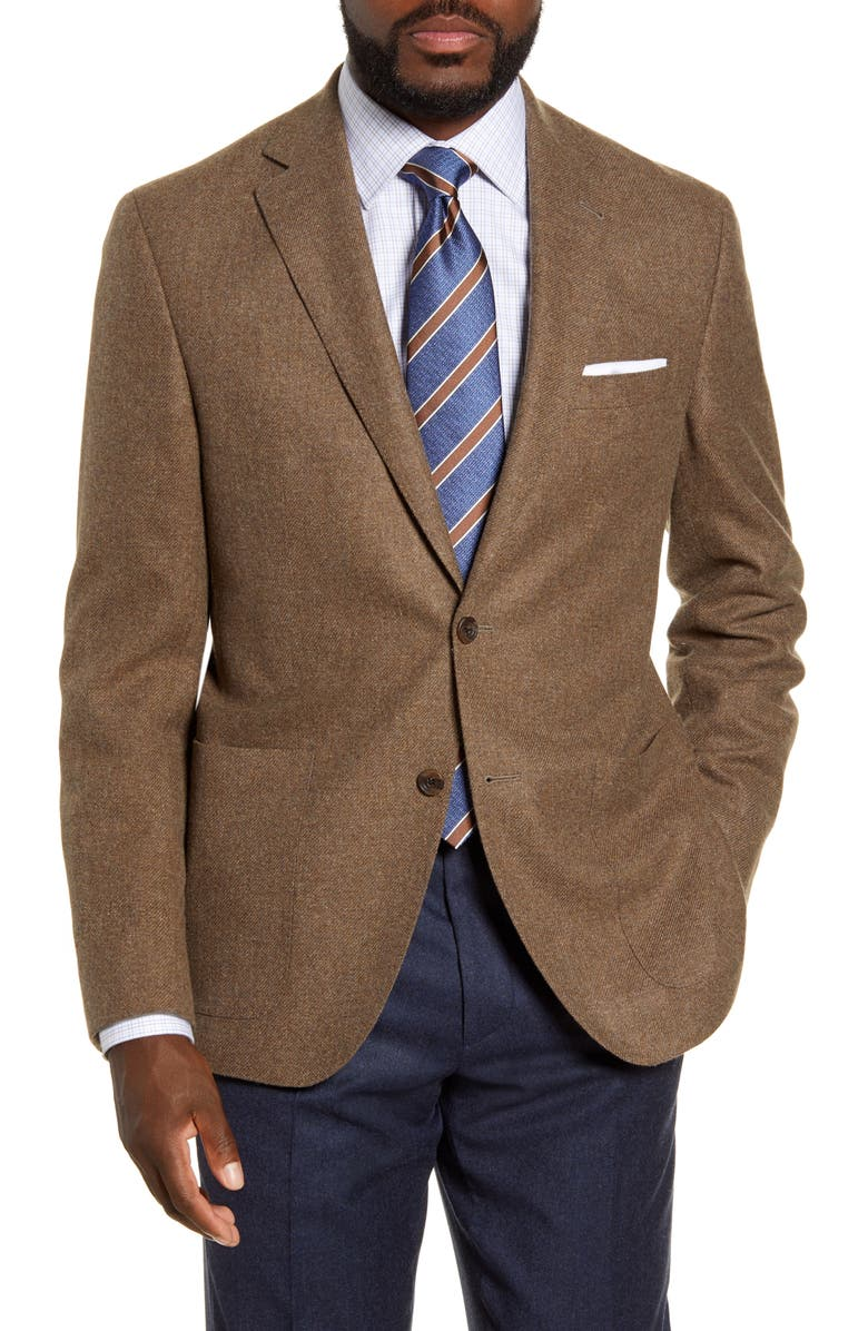 DAVID DONAHUE Aiden Classic Fit Solid Wool Sport Coat, Main, color, GREY