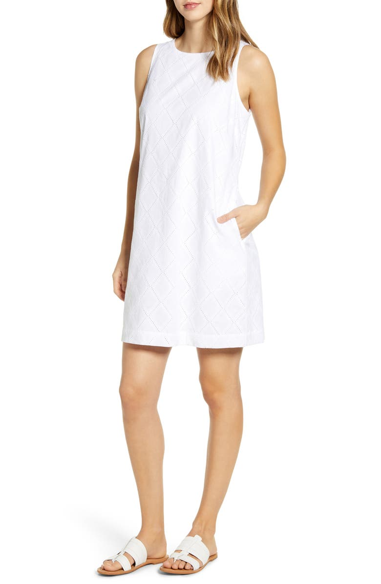 TOMMY BAHAMA Villa View Sleeveless Dress, Main, color, WHITE
