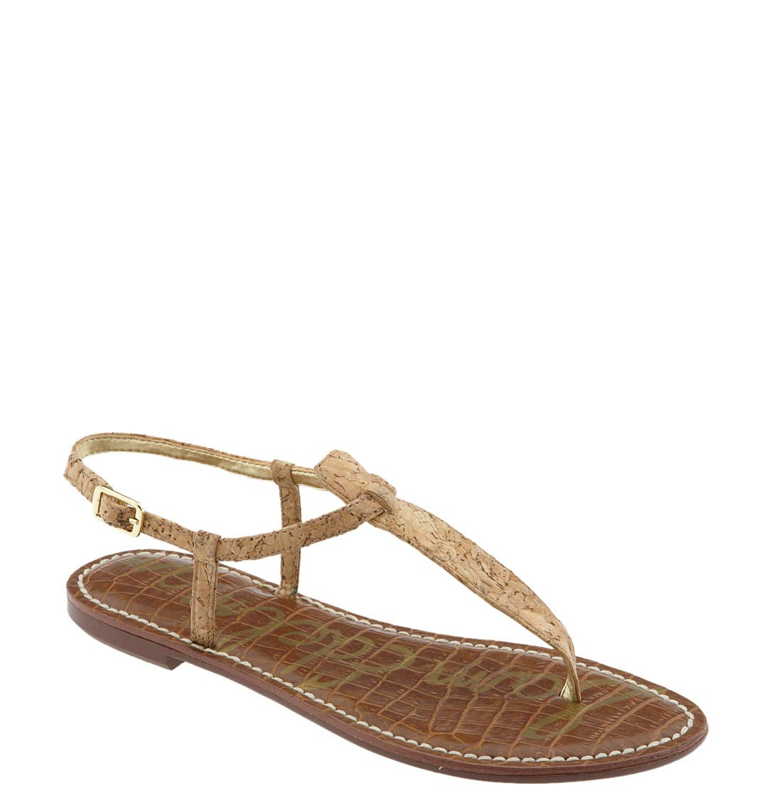 ,                             Gigi Sandal,                             Main thumbnail 1, color,                             NATURAL CORK