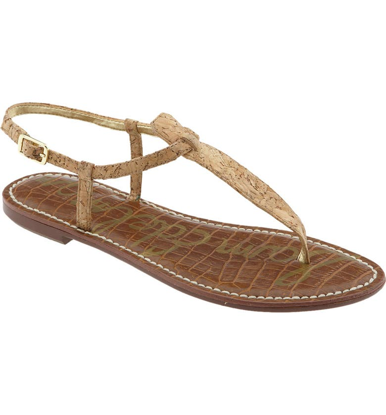 SAM EDELMAN Gigi Sandal, Main, color, NATURAL CORK