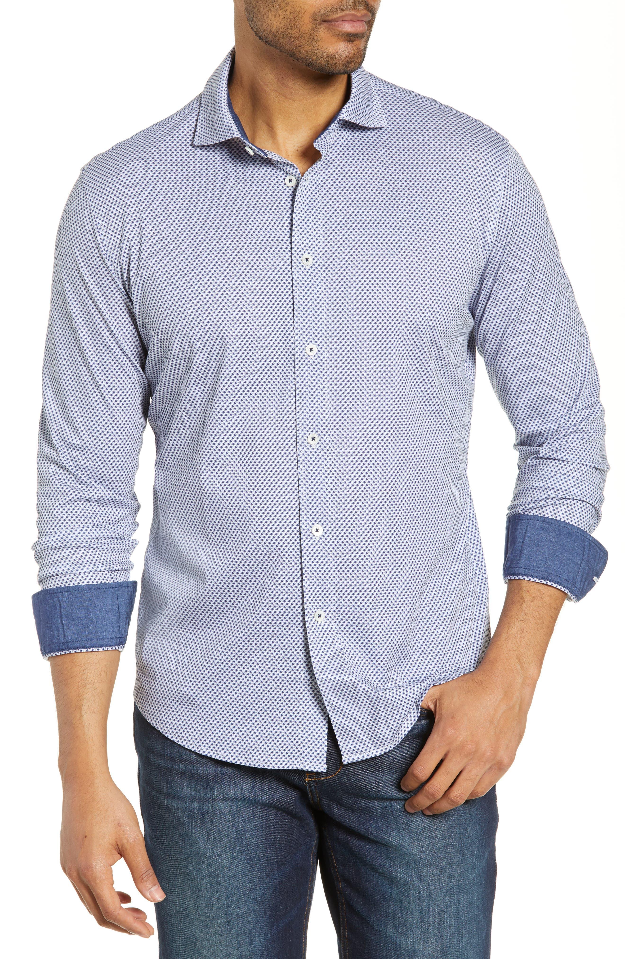 men's bugatchi knit shirt