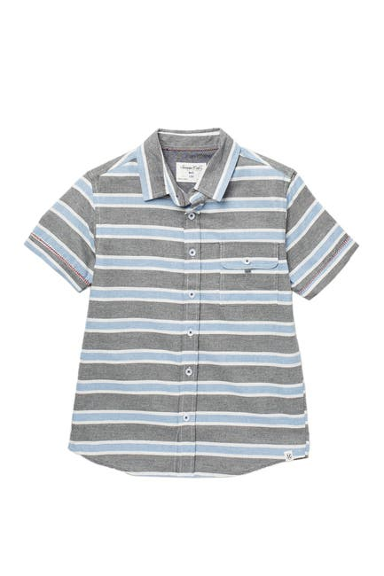 Image of Sovereign Code Intermission Short Sleeve Stripe Print Shirt