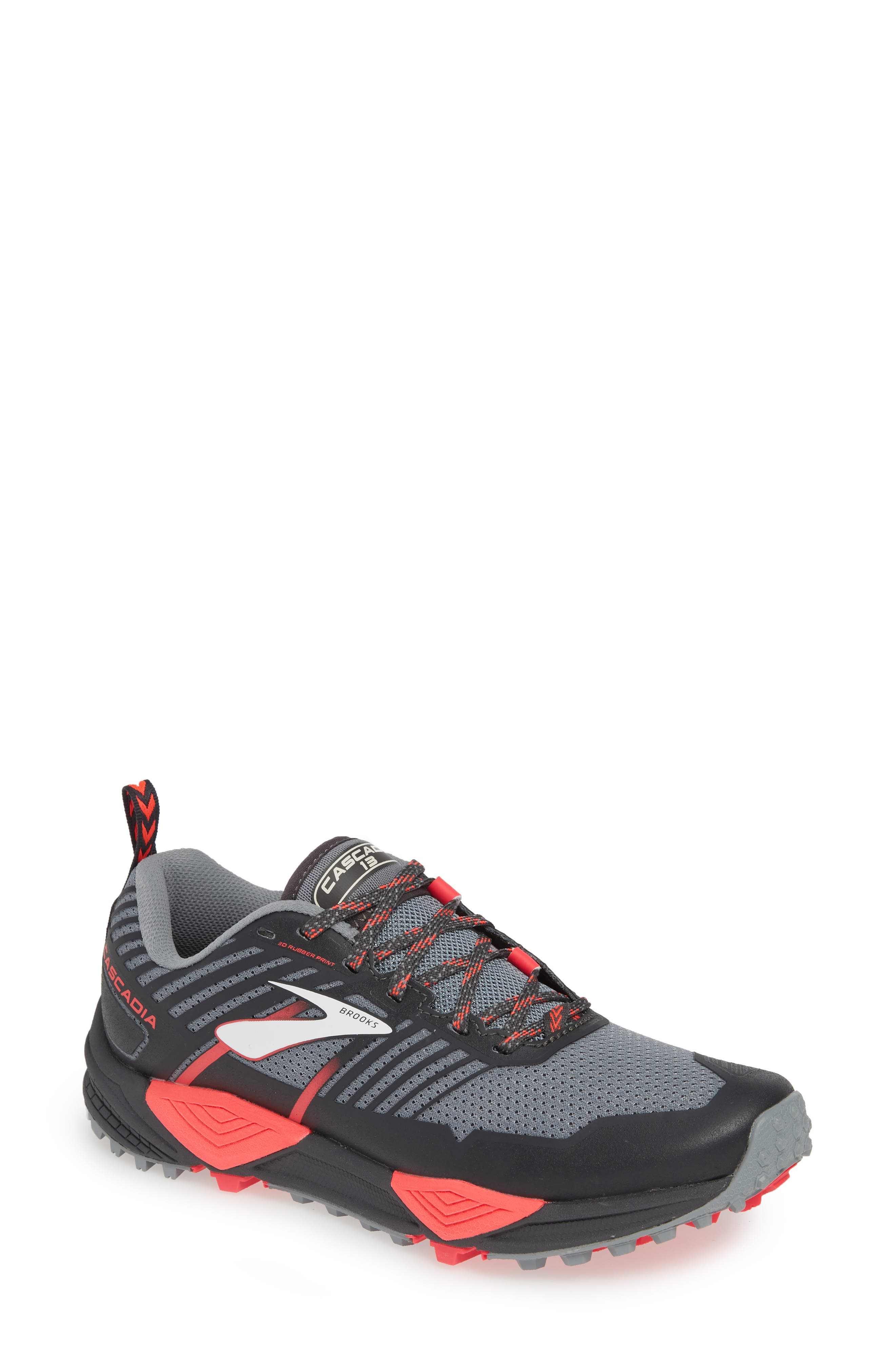 Brooks Cascadia 13 Trail Running Shoe, Grey