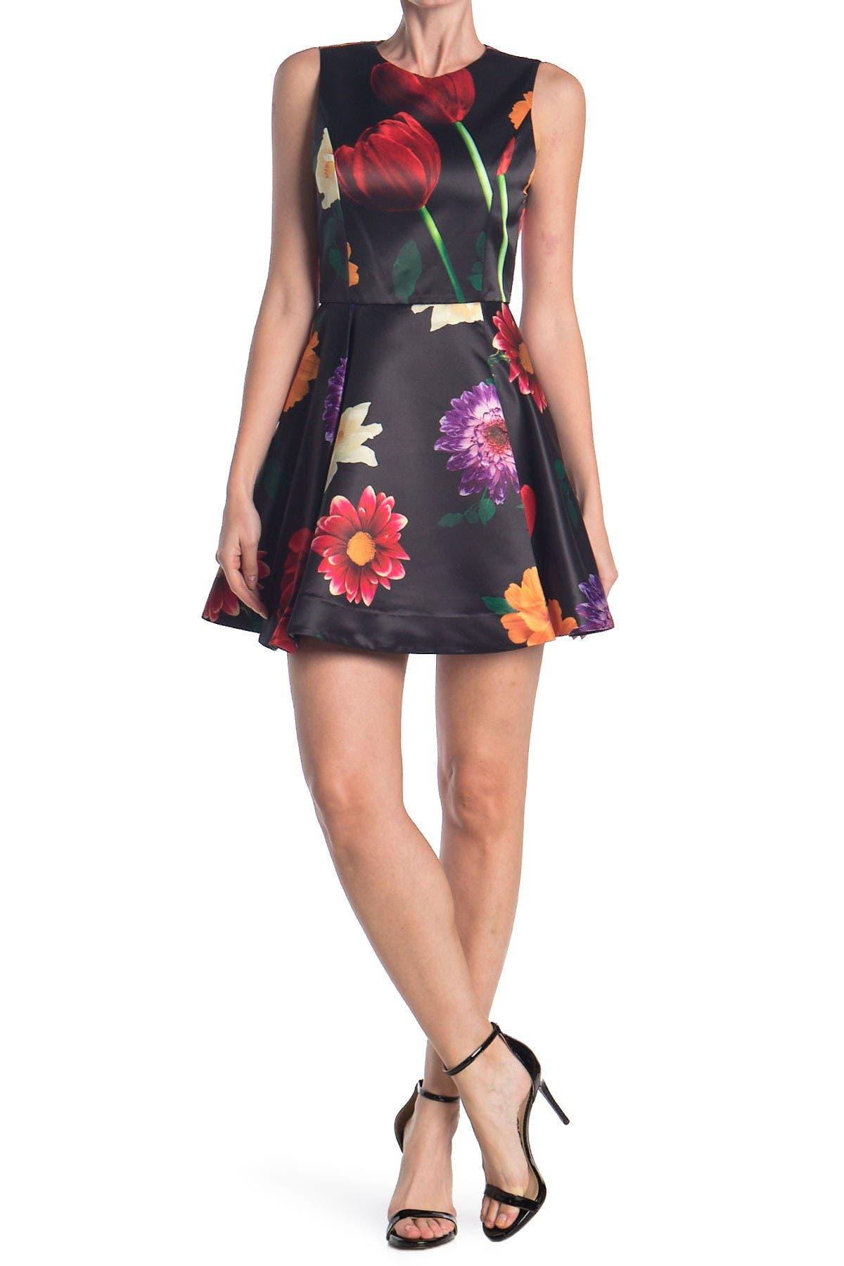 Alice + olivia Stasia Floral Skater Party Dress