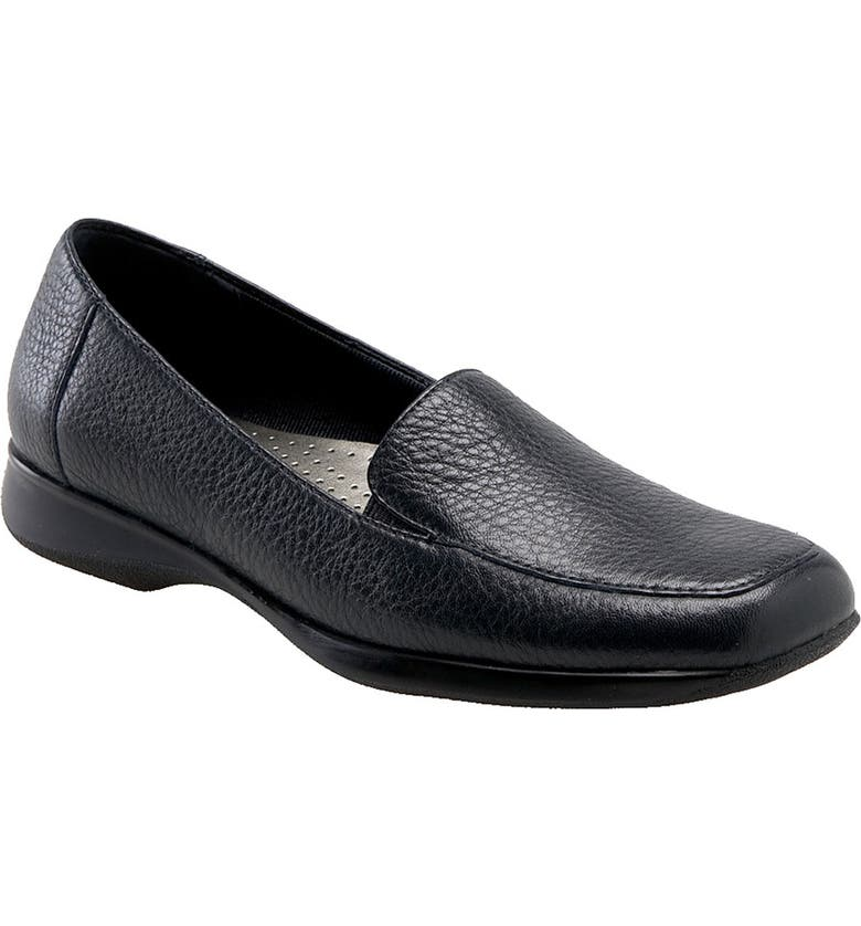 TROTTERS 'Jenn' Loafer, Main, color, NAVY SOFT TUMBLED LEATHER