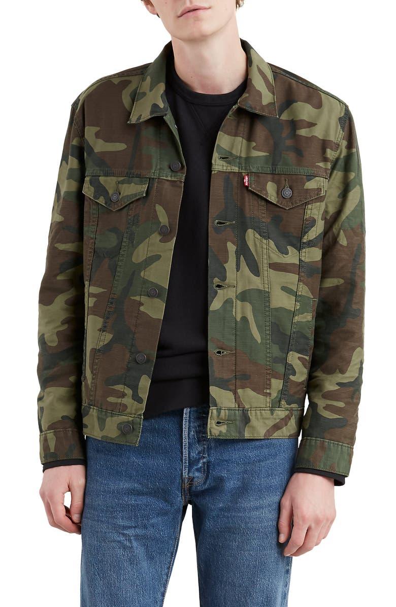 LEVI'S<SUP>®</SUP> The Trucker Camo Jacket, Main, color, 300