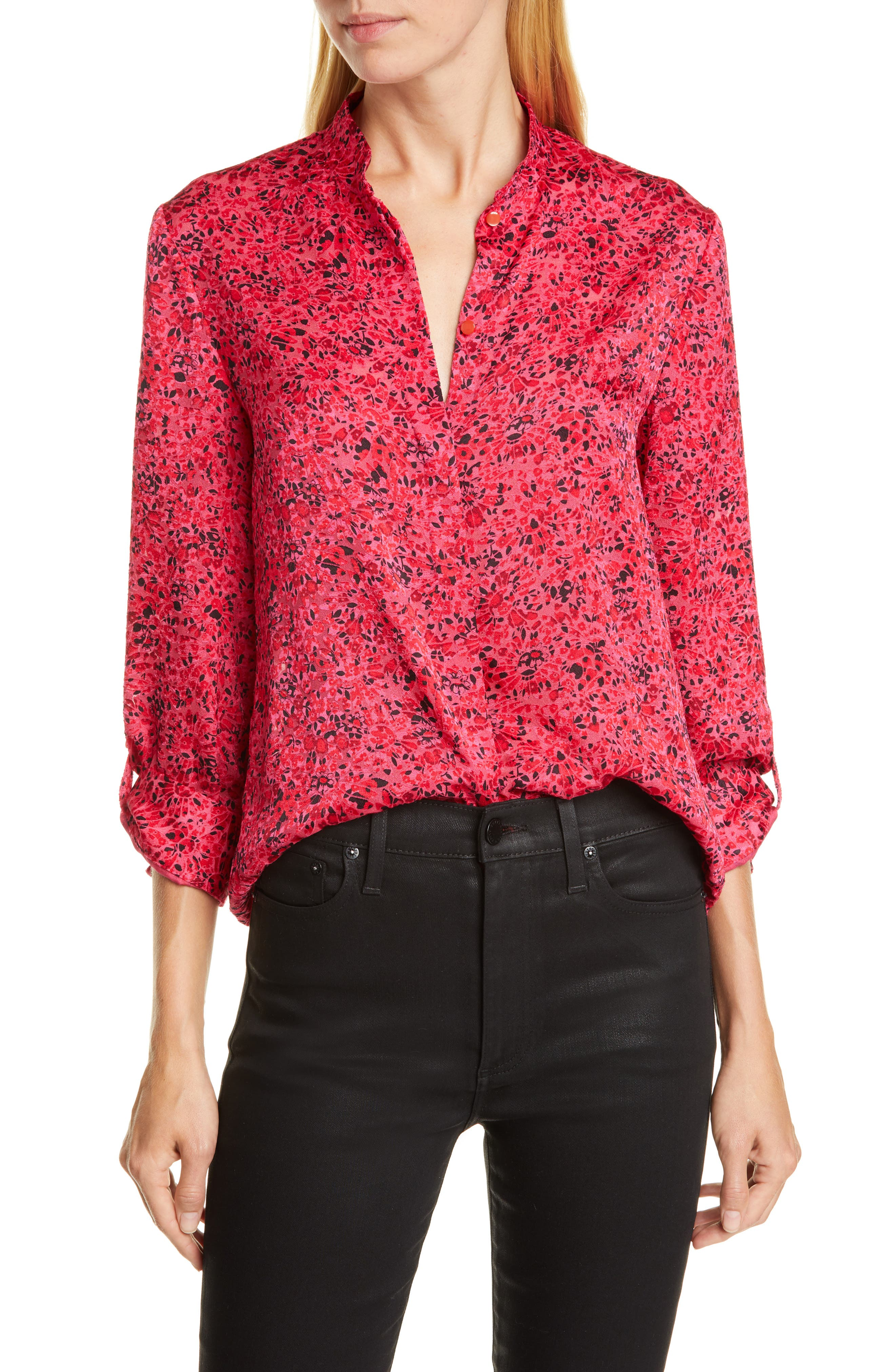 Alice + Olivia Tops Eloise Floral Top
