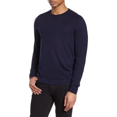 Nordstrom Signature Merino Wool Blend Crewneck Sweater, Blue