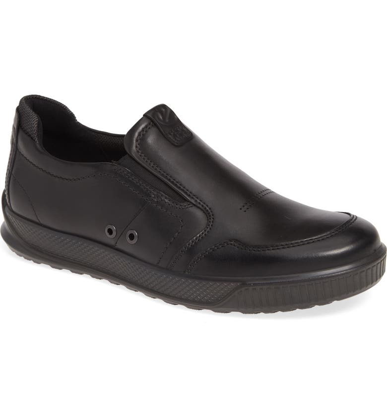 ECCO Byway Slip-On, Main, color, BLACK LEATHER
