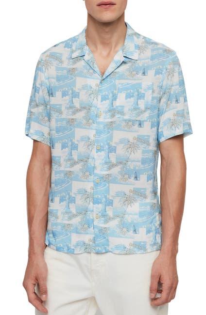 Image of ALLSAINTS Sayonara Hawaiian Short Sleeve Slim Fit Shirt