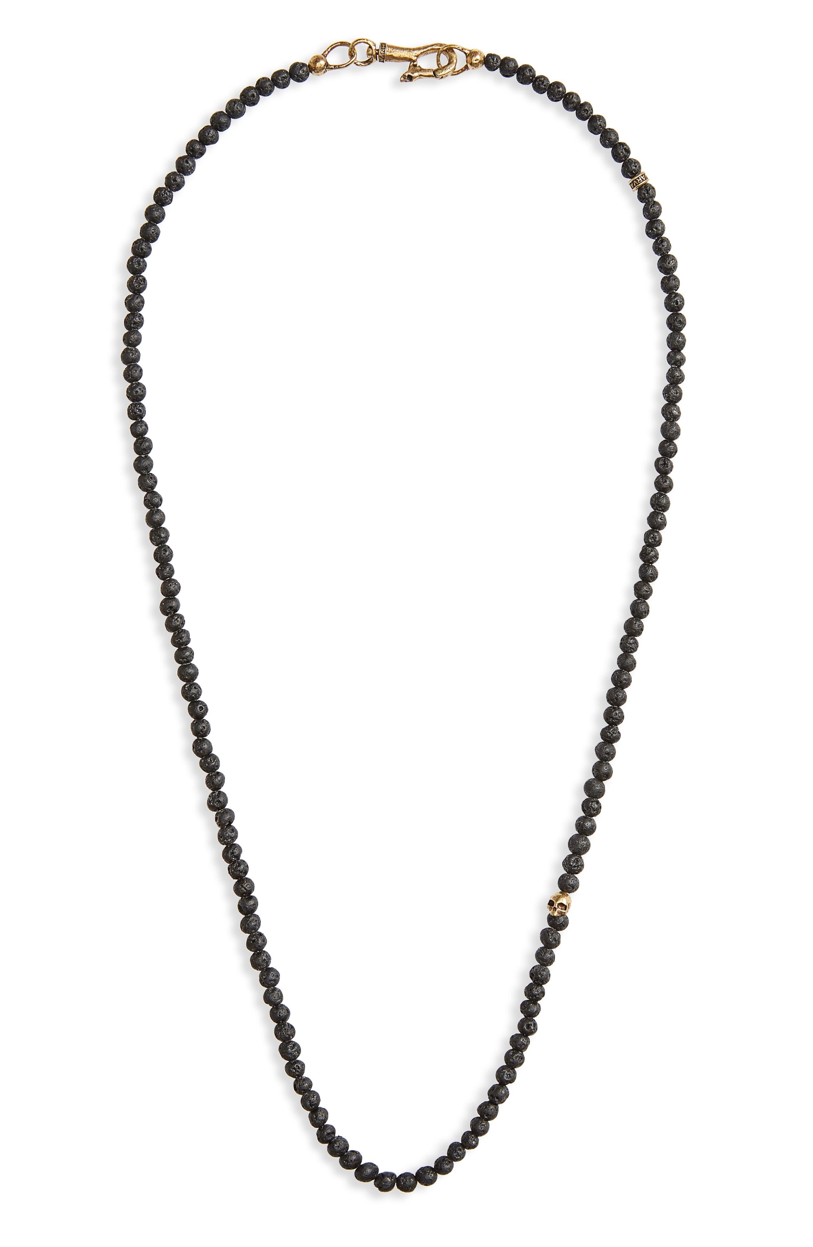 Skull Bead Necklace