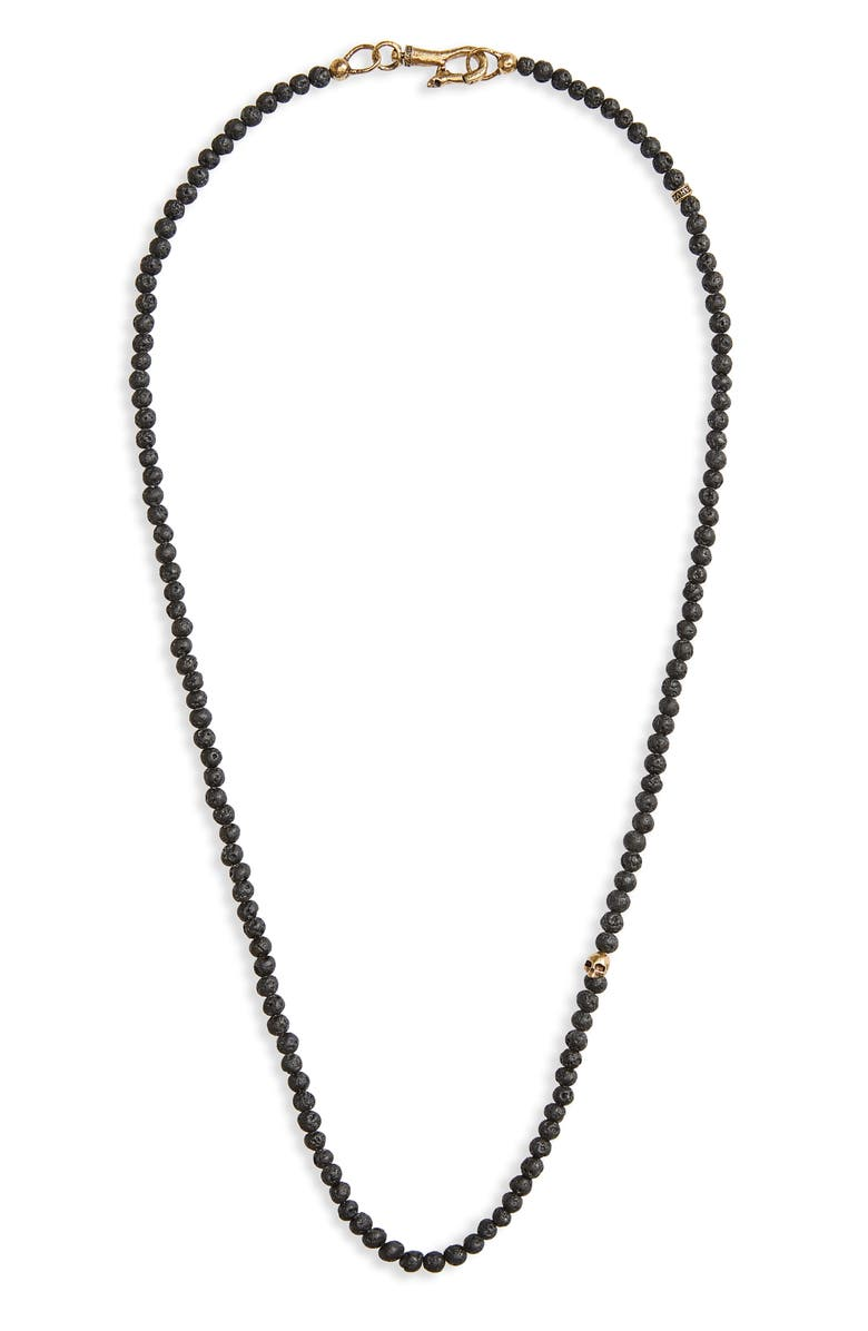John Varvatos Skull Bead Necklace