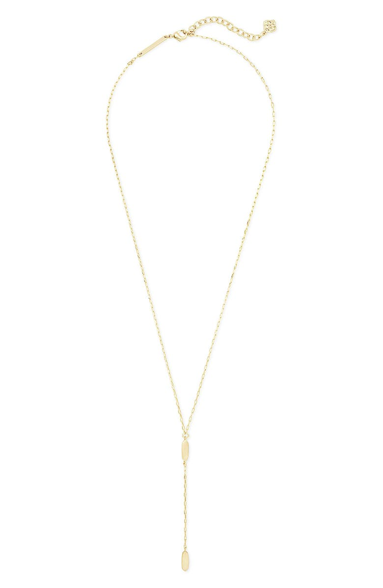 KENDRA SCOTT Fern Y-Necklace, Main, color, GOLD