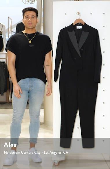 Mariana Long Sleeve Tuxedo Jumpsuit, sales video thumbnail