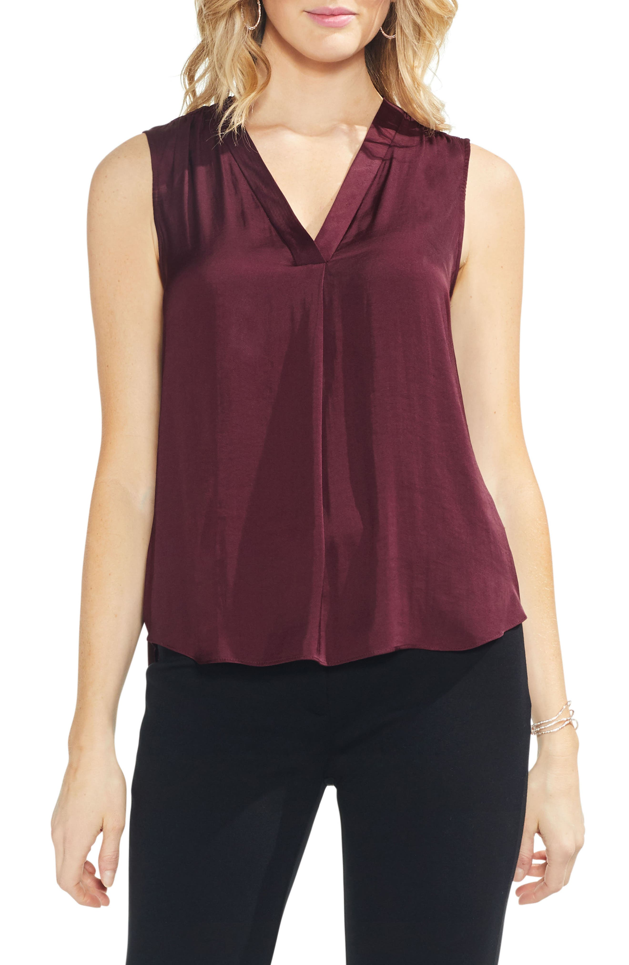 ,                             Rumpled Satin Blouse,                             Main thumbnail 209, color,                             600